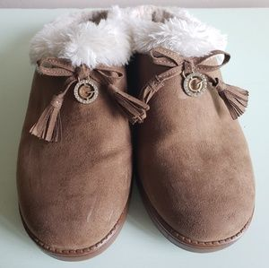Guess Faux Fur Slippers
